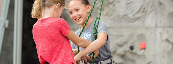 Kids climb camp