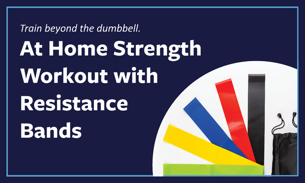 At home strength workout with resistance bands