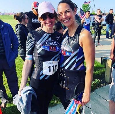 CAC Triathletes Meg and Lauren