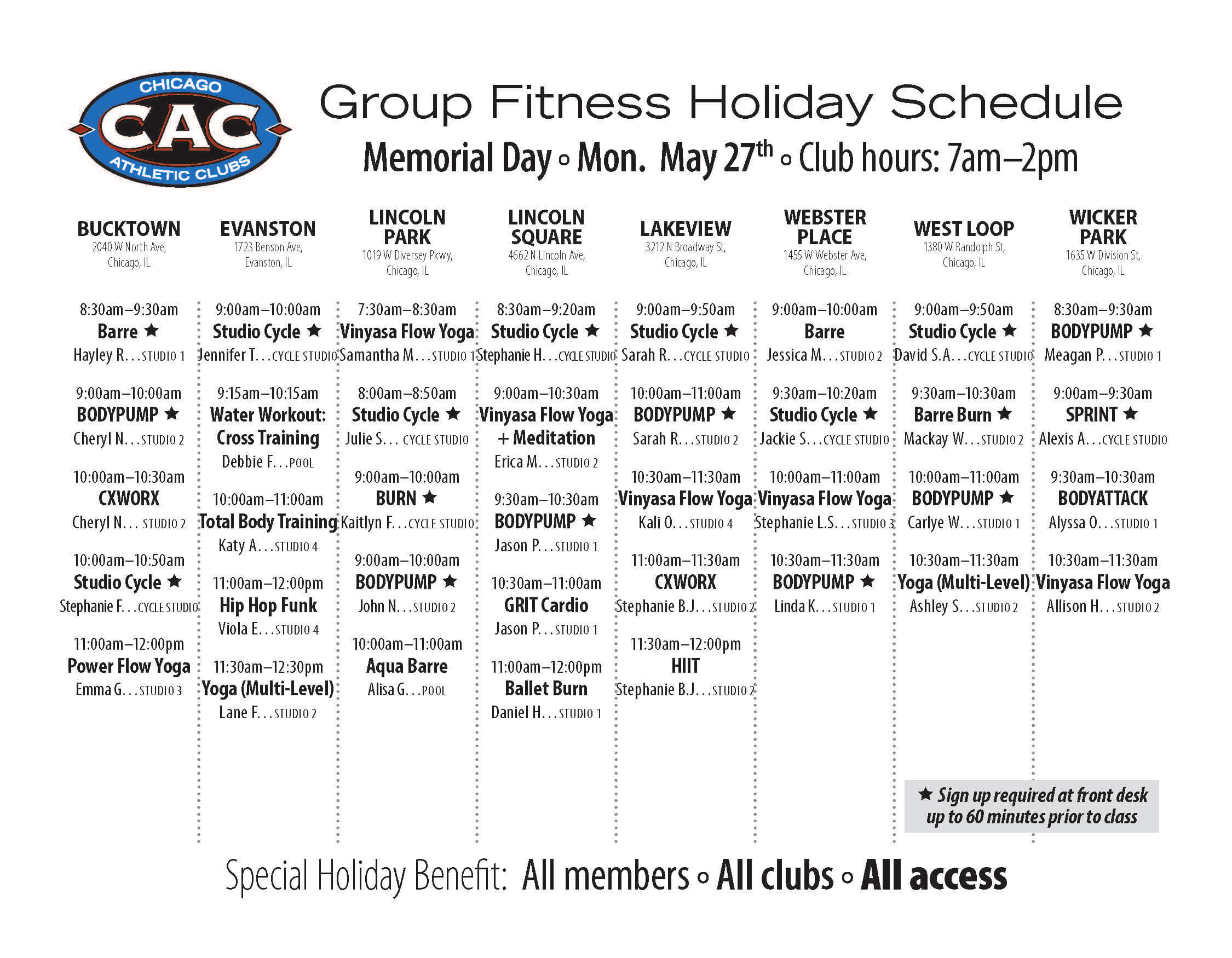 CAC_Memorial day 19_classes