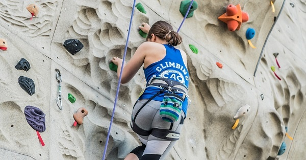 Climbing wall climber