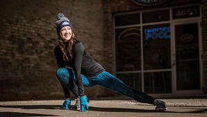 Colleen Winter Holiday outdoor stretch