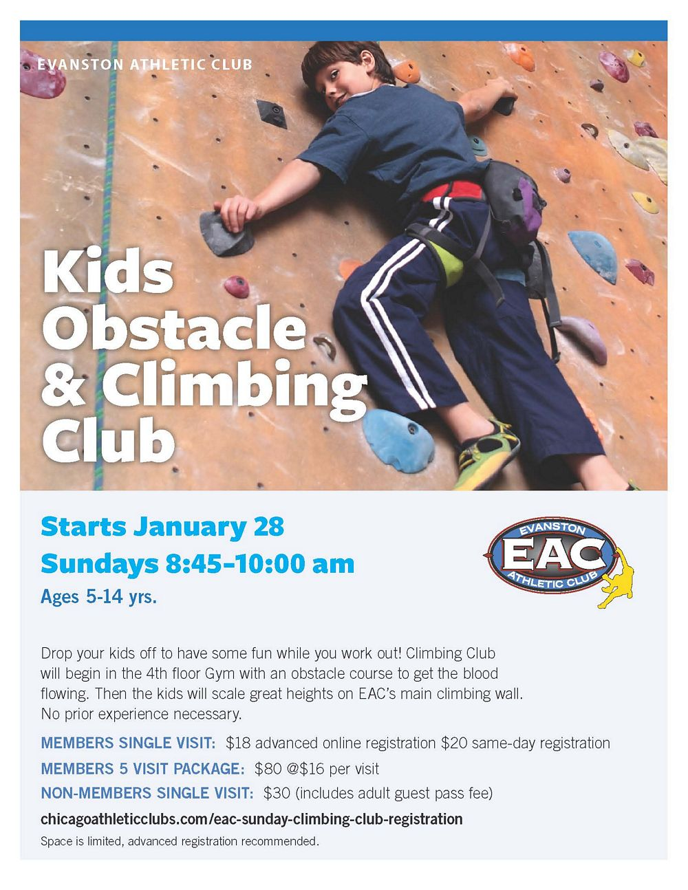 EAC Kids Obstacle and Climbing Club