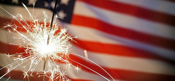 Fireworks Flag Crop