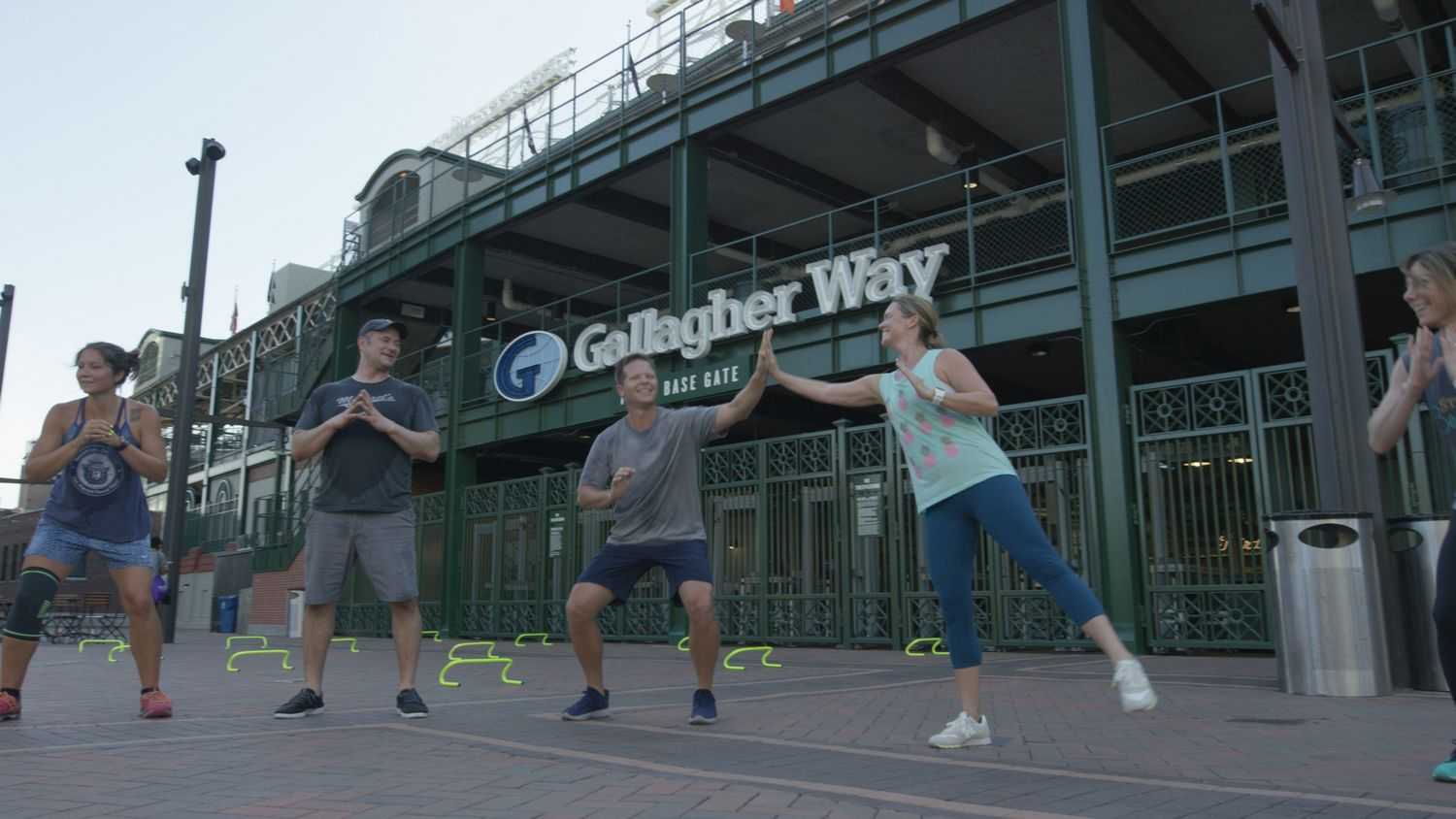 Workout at Gallagher Way with CAC