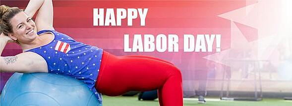 Happy Labor Day with balance ball