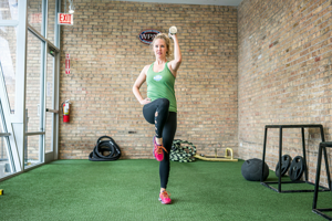 Jennifer Bonner Lateral lunge with curl