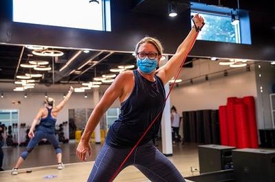 Julie Indoor Training with mask