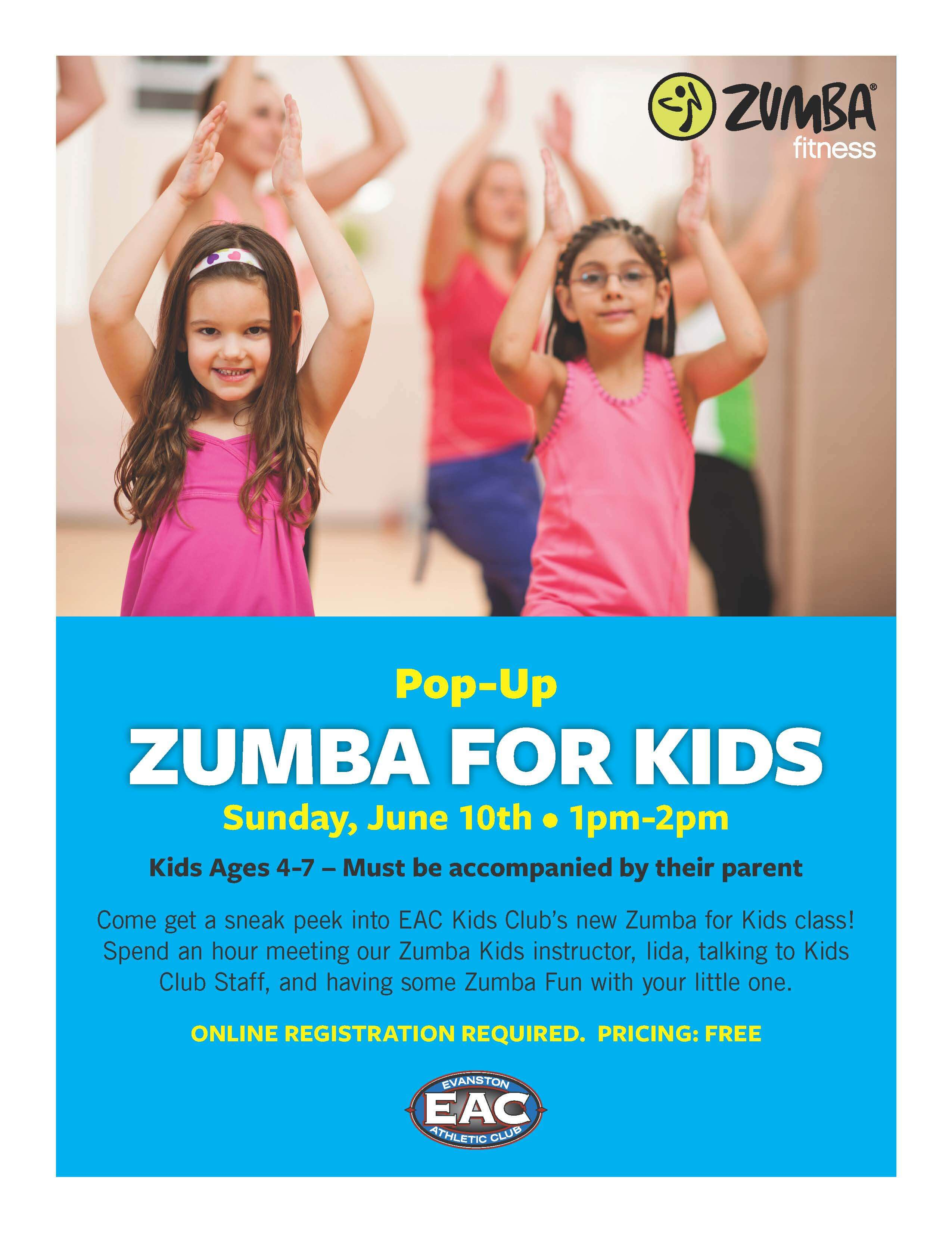 Kids Zumba pop up