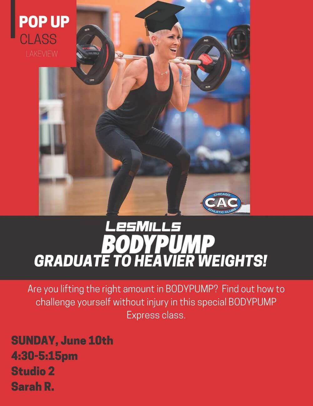 POP UP Bodypump Graduate LVAC