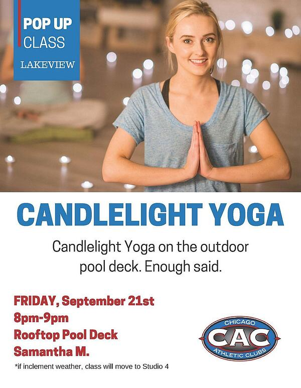 POP UP CANDLELIGHT YOGA LVAC