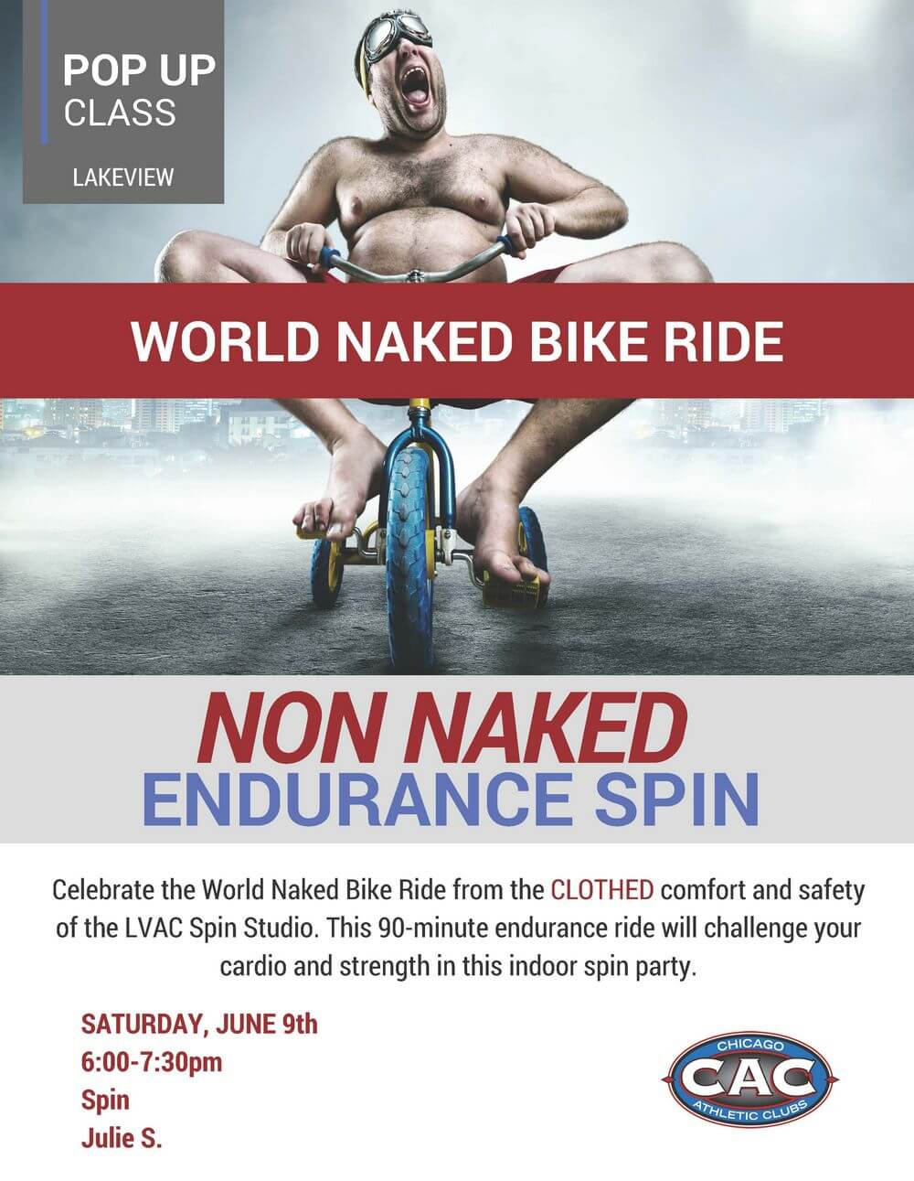 POP UP NON NAKED SPIN LVAC JUNE