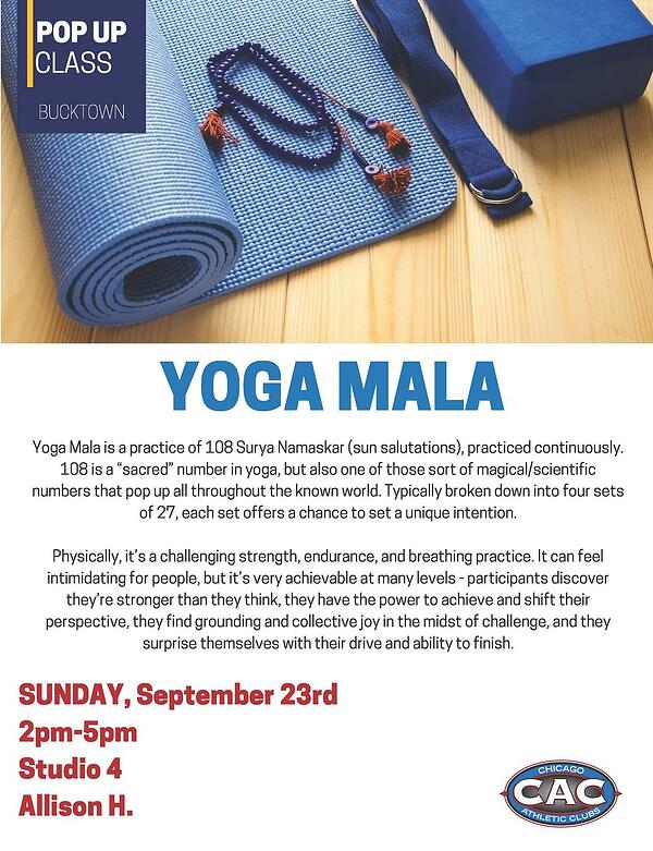 POP UP YOGA MALA BAC