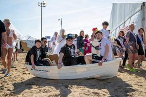 Polar Plunge Kids in boat