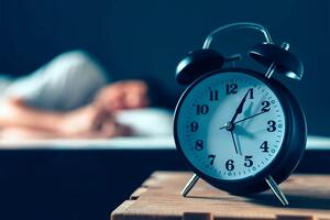 Sleep with alarm clock