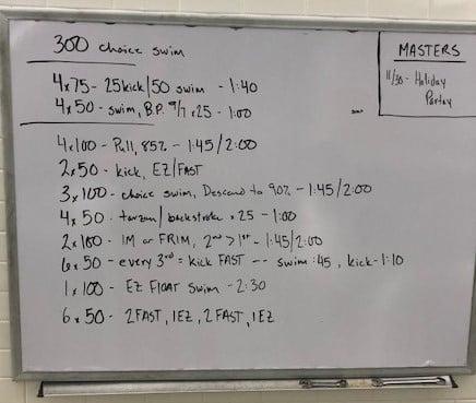 Swim workout crop