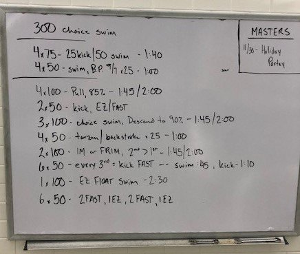 Swim workout crop
