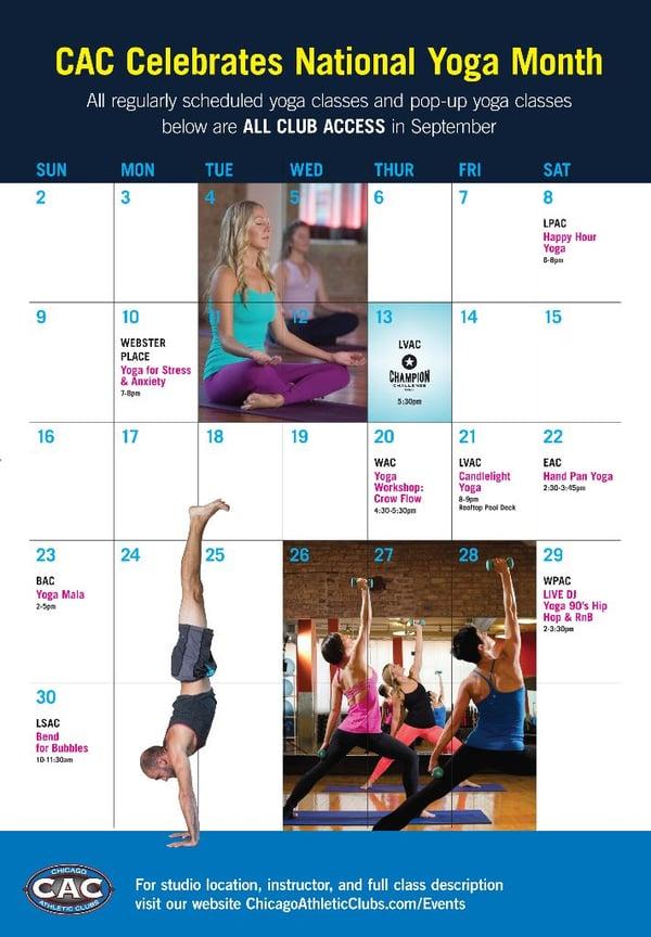 Yoga Month Calendar