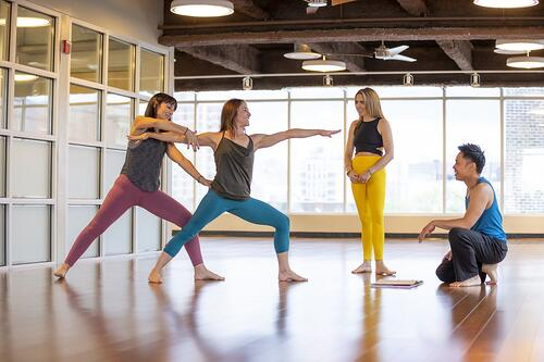 Yoga Teacher Training Warrior 2 pose