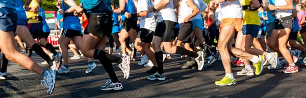 Marathon Runners Starting line crop