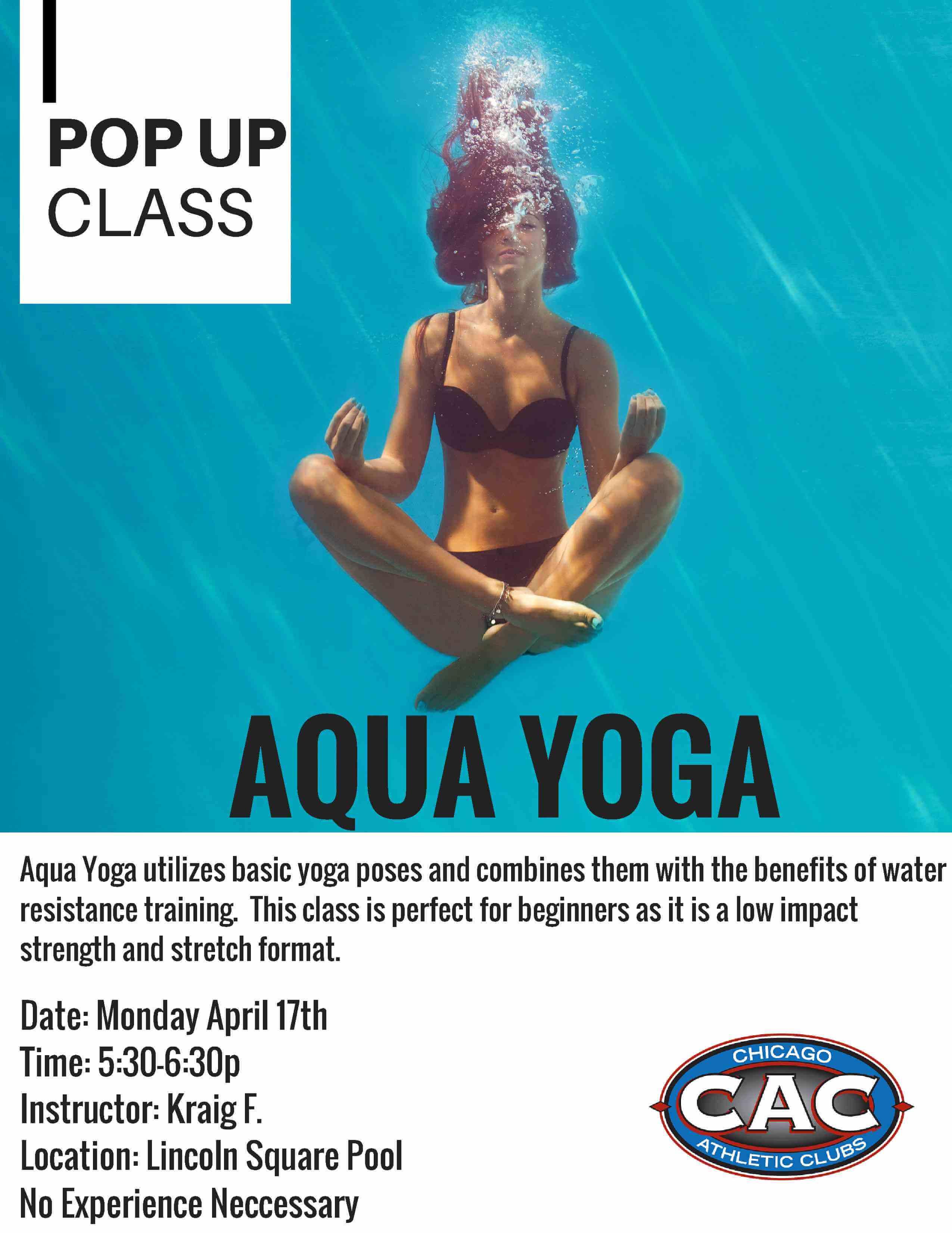 Pop Up: Aqua Yoga at LSAC